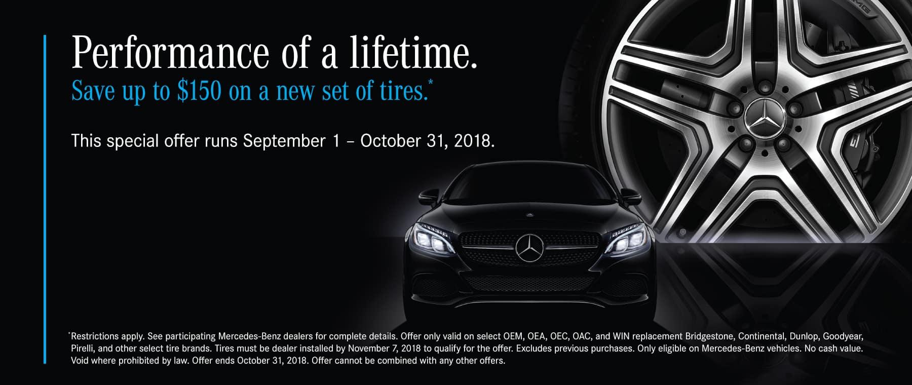Mercedes Benz Tire Promo Banner