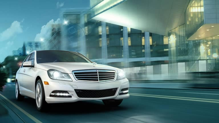 Certified Pre-Owned Mercedes-Benz Vehicle Driving