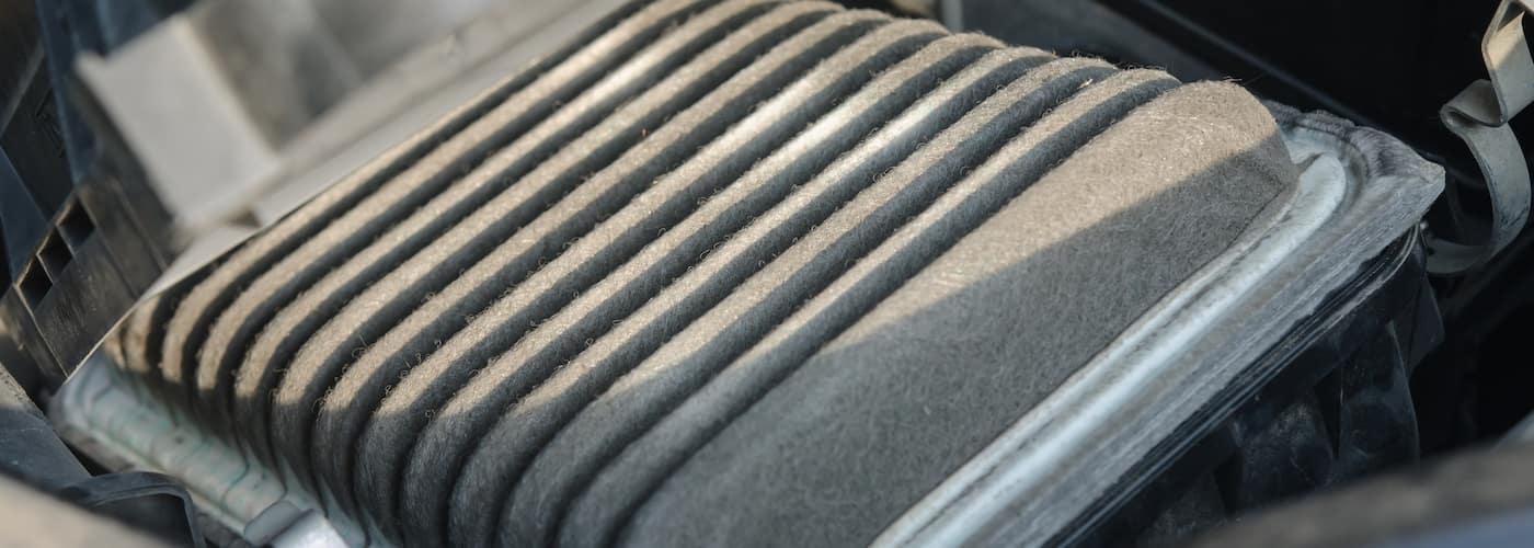 cabin air filter close up