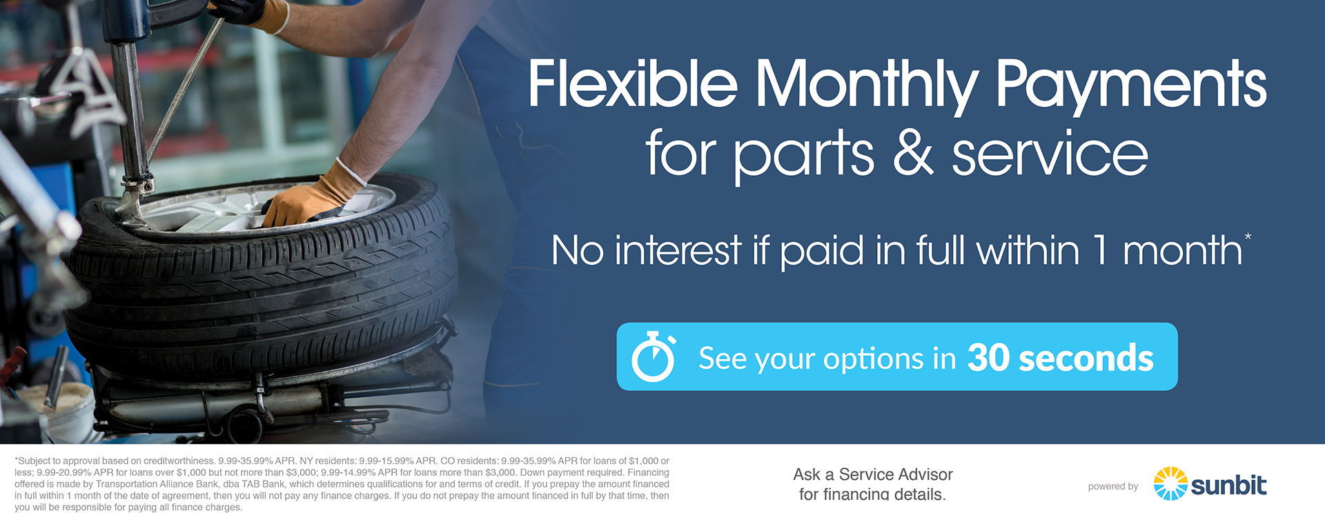 Service and Parts Financing