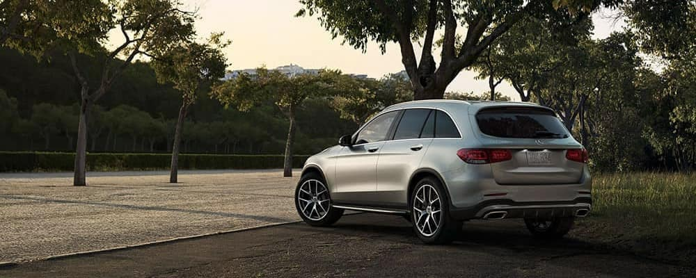 2020 Mercedes-Benz GLC parked among trees