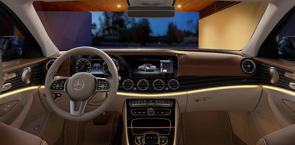 The front interior of a 2020 Mercedes-Benz E-Class