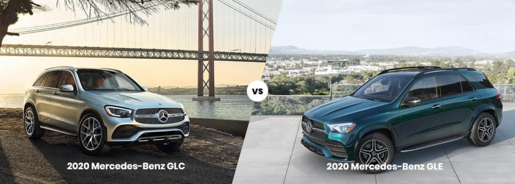 2020 Mercedes-Benz GLC vs. GLE side by side