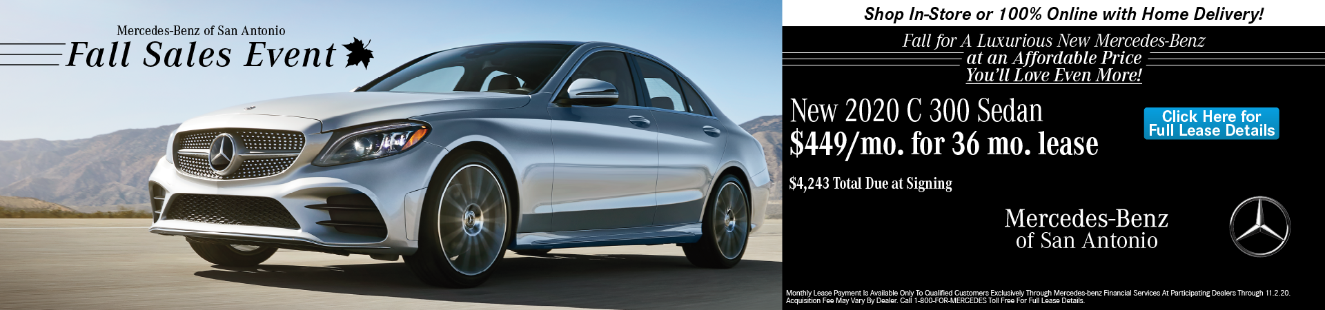 MB of San Antonio 2020 C 300 Lease Special