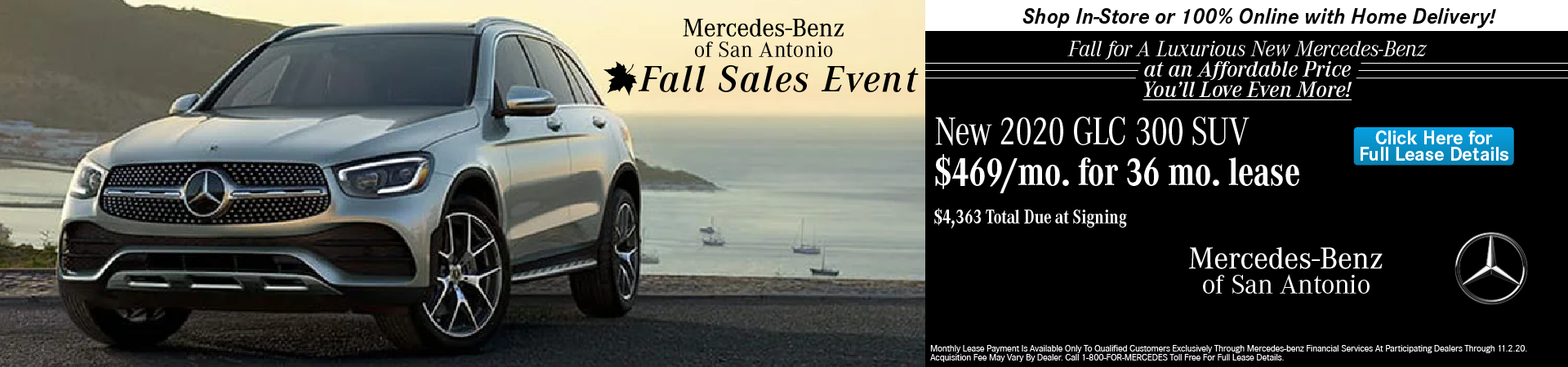 MB of San Antonio 2020 GLC Lease Special