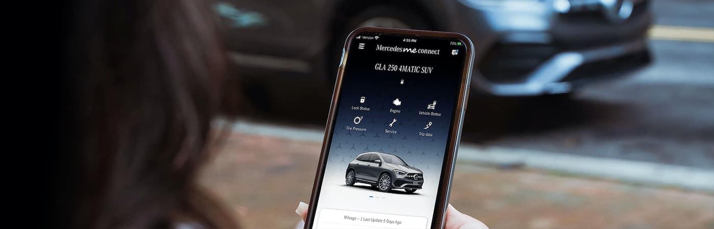 Mercedes me App on Phone