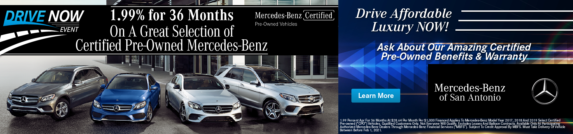 Mercedes-Benz Certified Pre-Owned 1.99% APR