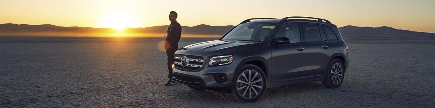 Mercedes-Benz Parked at Sunset