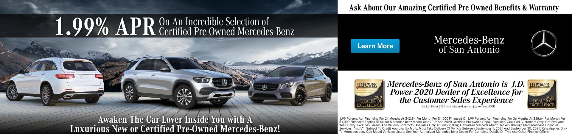 2021 Mercedes-Benz 1.99% APR