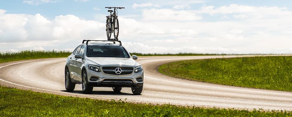 Mercedes-Benz bike on roof