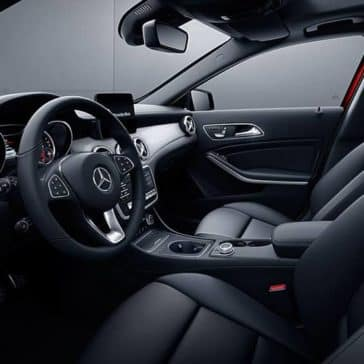 2019 Mercedes-Benz GLA black interior