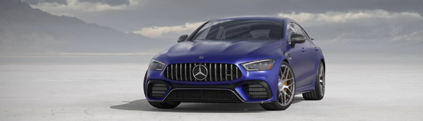 Blue Mercedes-Benz AMG
