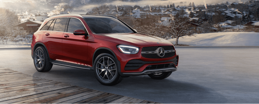 Red Mercedes-Benz GLC