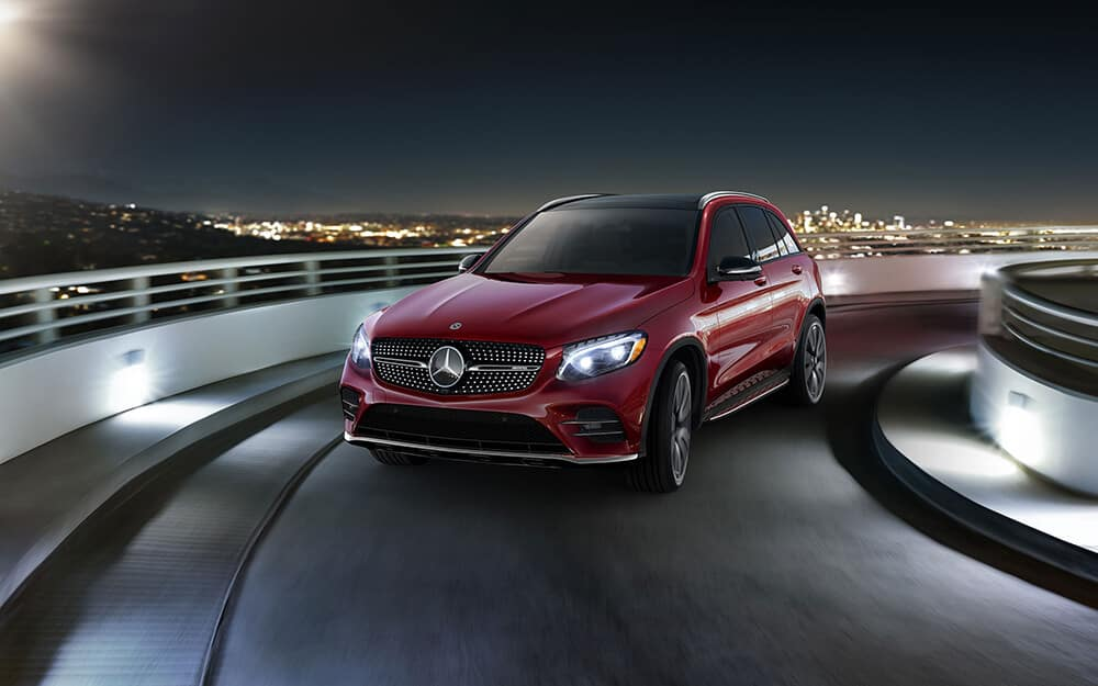 2018 Mercedes-Benz GLC Driving on a Ramp