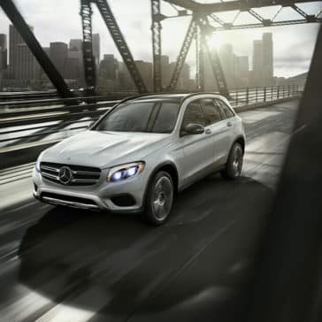 2018 Mercedes-Benz GLC Driving Over a Bridge