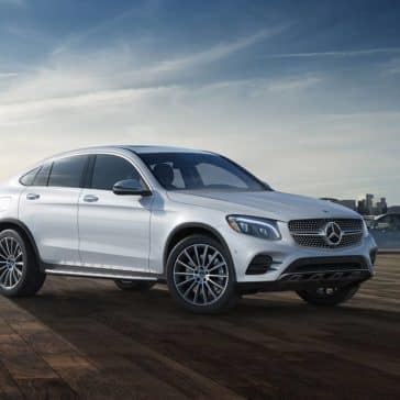 2019 Mercedes-Benz GLC with city in background