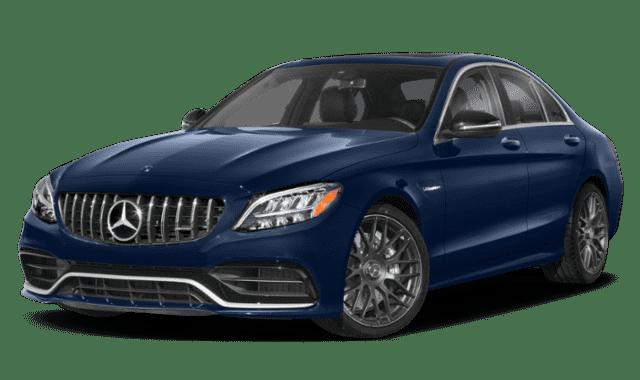 Blue 2019 Mercedes-Benz C-Class