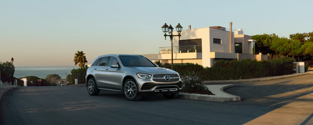 Exterior view of the 2021 Mercedes-Benz GLC parked