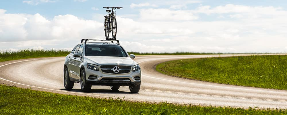 Mercedes-Benz bike on roof