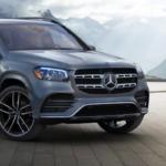 Silver-gray Mercedes-Benz GLS
