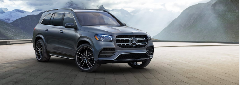 Silver-gray Mercedes-Benz GLS