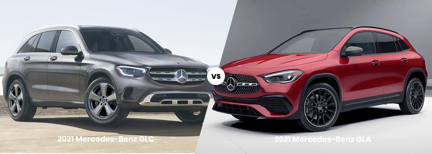 2021 Mercedes-Benz GLC vs GLA