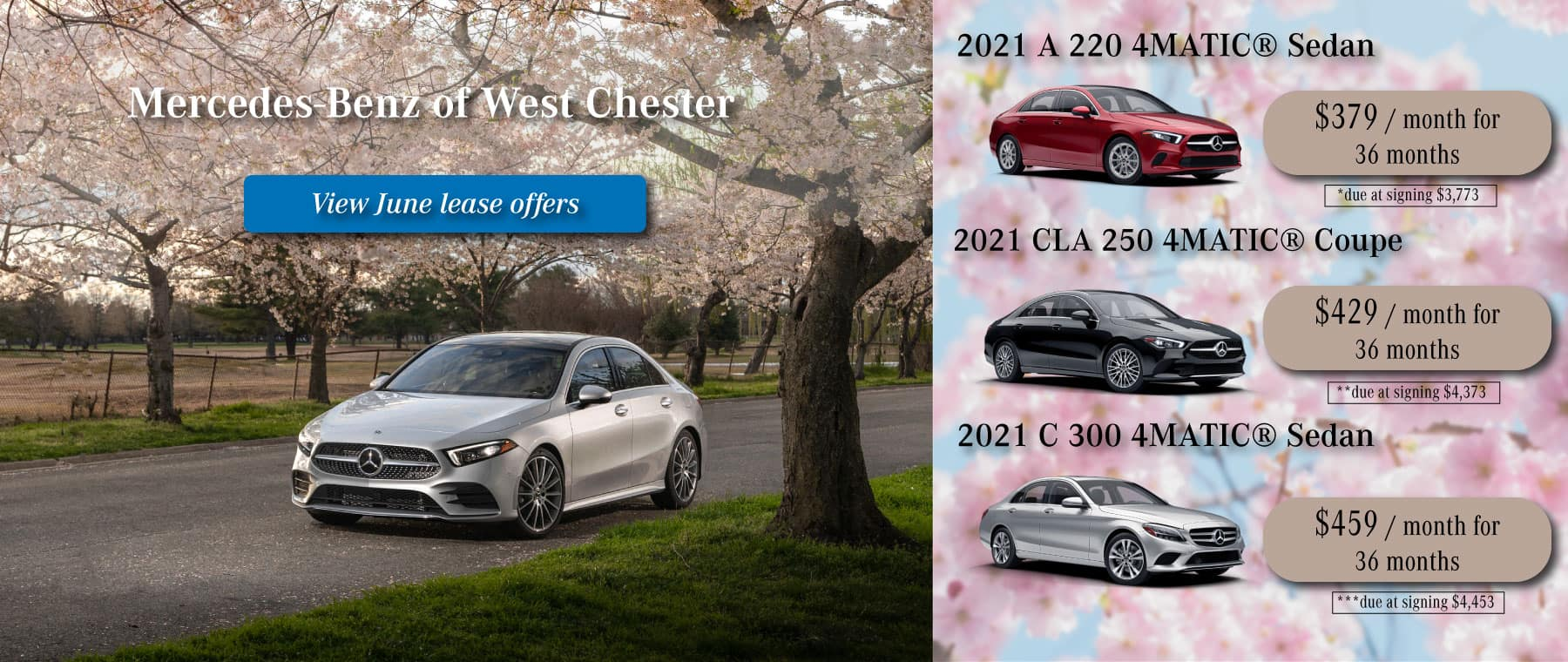 mercedes-benz of west chester 2021 new lease special