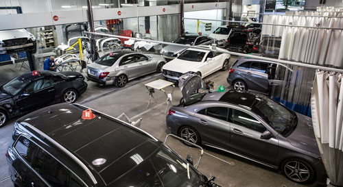 Collision centre body repair mercedes benz vancouver for Mercedes benz auto body shop