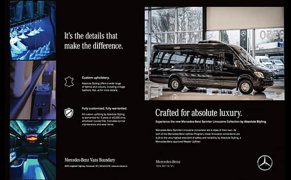 Vans luxury metris and sprinter vans mercedes benz for Mercedes benz retail careers