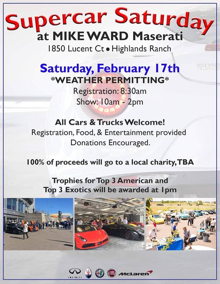 Supercar Saturday Car Show At Mike Ward Maserati In Highlands Ranch