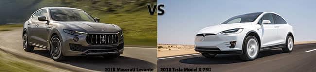 2018Maseratilante vs 2018 Tesla Model X 75D