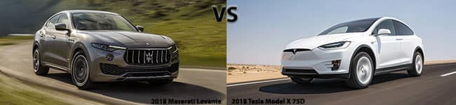 Maserati Levante compared to Tesla Model X 75D