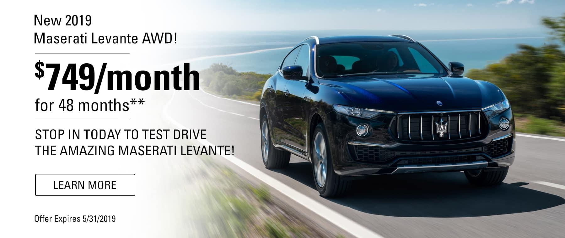 Levante lease specials