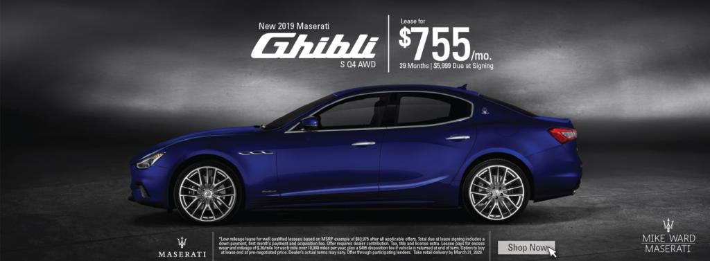 2019 Maserati Ghibli lease offer