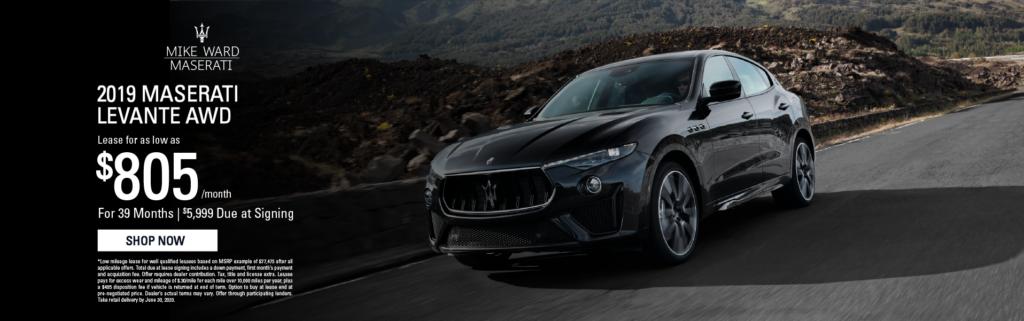 2019 Maserati Levante lease offers