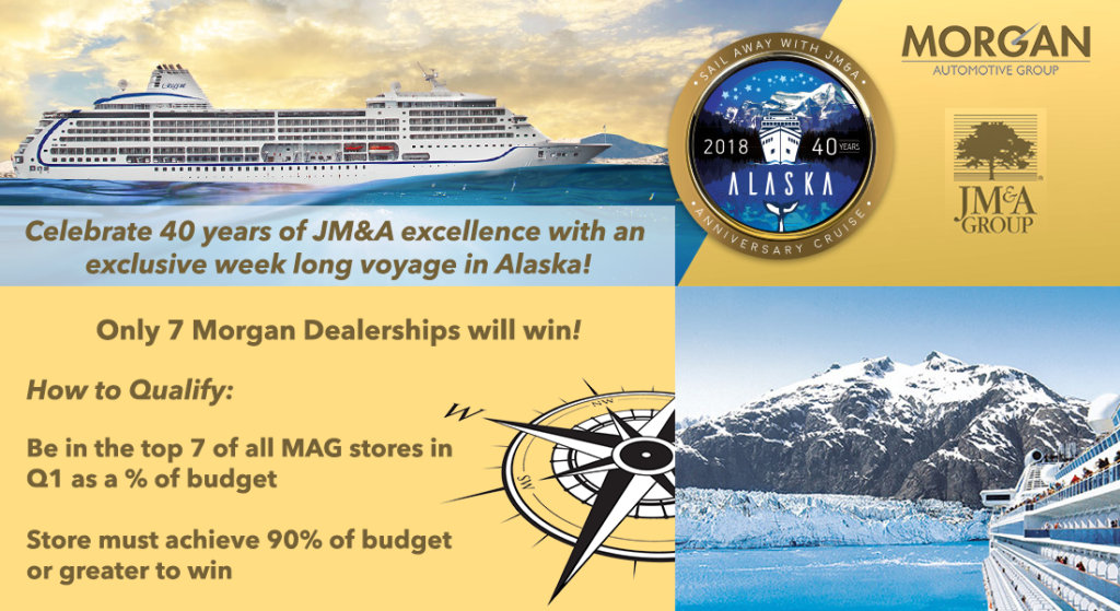 Rountree Moore Nissan >> 2018 JM&A Incentive Contest - Alaska Cruise | Morgan Auto Group: New and Used Vehicles in Florida