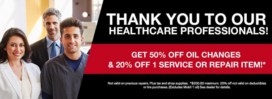 thank you to our healthcare professionals!