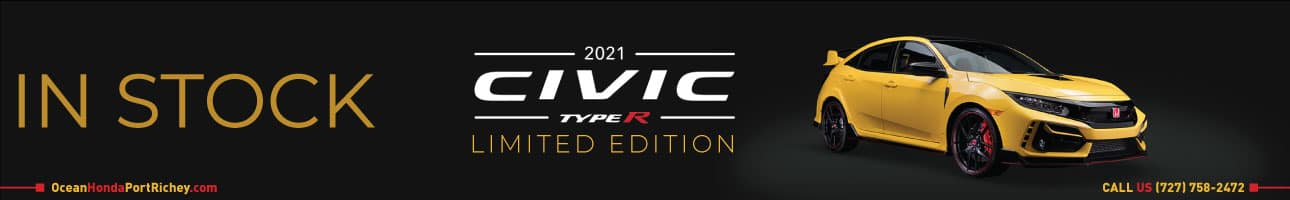 2021 Honda Civic Type R Limited Edition in stock at Ocean Honda