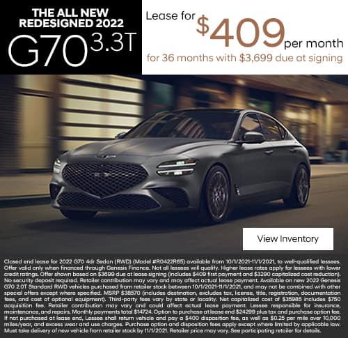 New 2022 Genesis G70