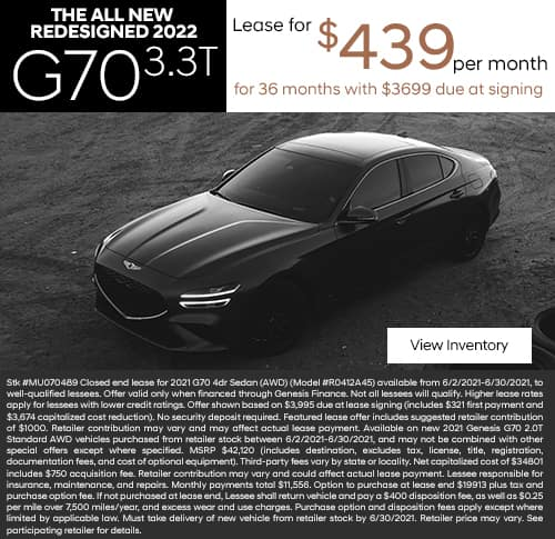 New 2021 Genesis G70