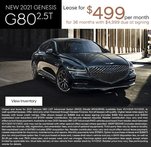 New 2021 Genesis G80