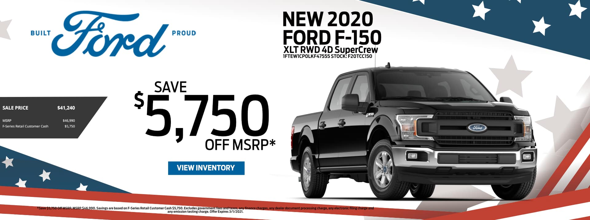 February-2021 Ford F-150 Save PSF