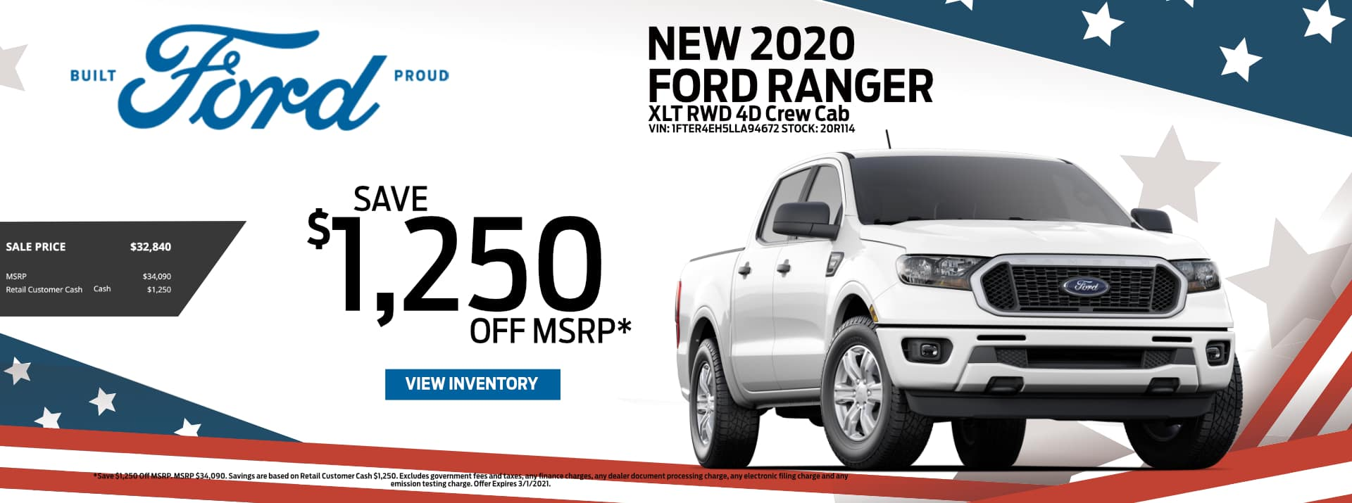February-2021 Ford Ranger Save PSF