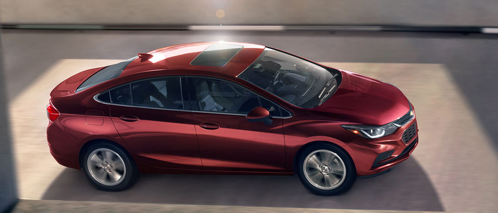 2017 Chevrolet Cruze Interior Dashboard In Red On The Highway