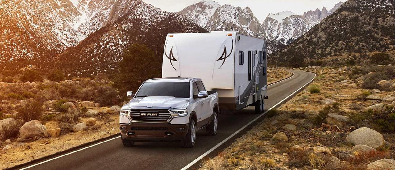 2019 Ram 1500 tows trailer home
