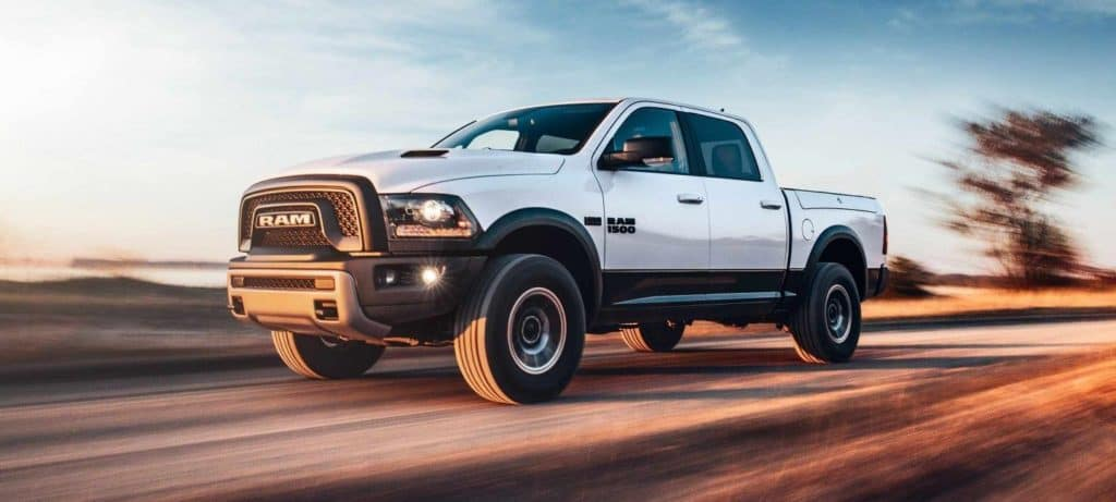 2018 RAM 1500 White Side View