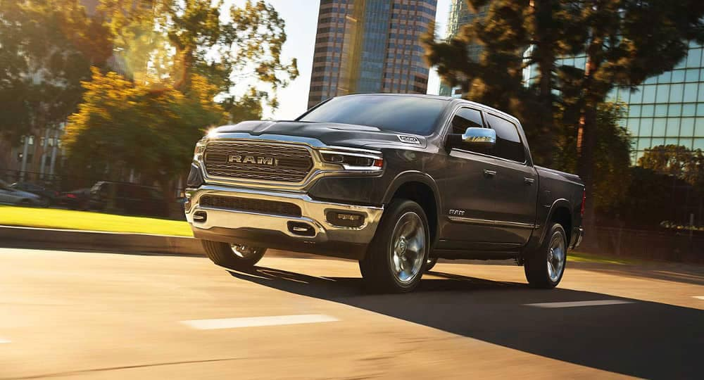 2019 Ram 1500 drives down city street gallery