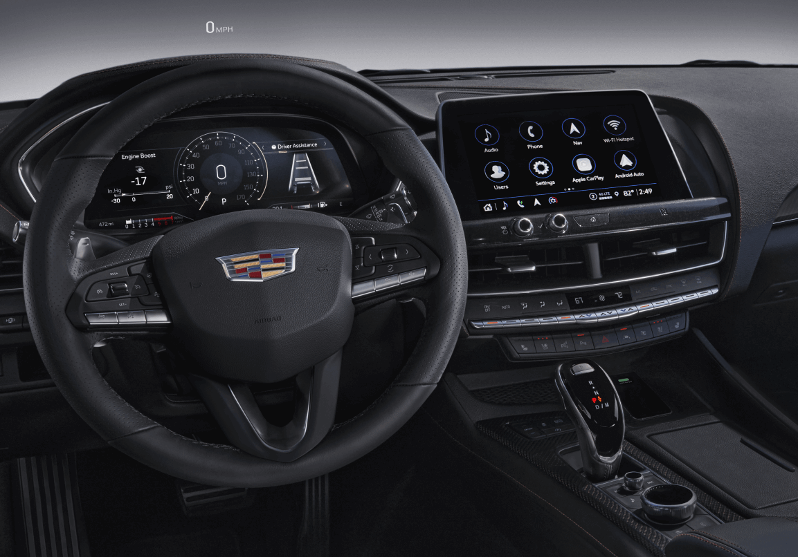 2021 Cadillac CT5 Interior Dashboard Tech Red Noland Cadillac Colorado Springs CO