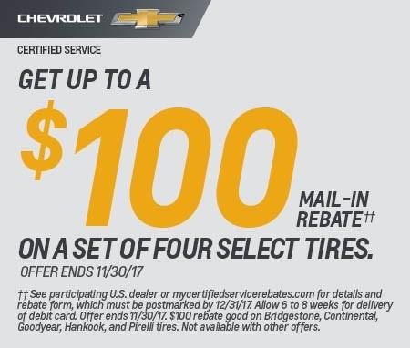 Chevrolet Fall Tire Rebate