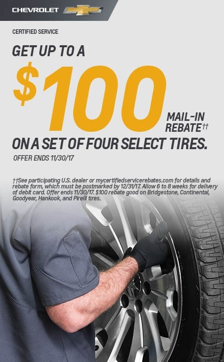 Chevrolet Tire Rebate